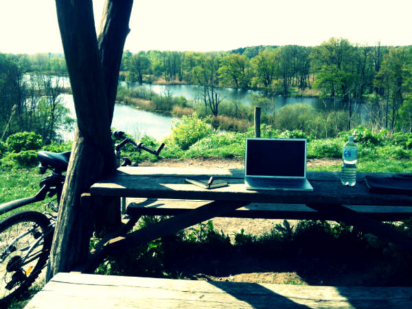 My workplace at the nature reserve. Beautiful, isn't it?